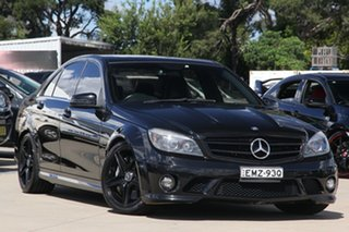 2009 Mercedes-Benz C-Class W204 C63 AMG Black 7 Speed Sports Automatic Sedan.