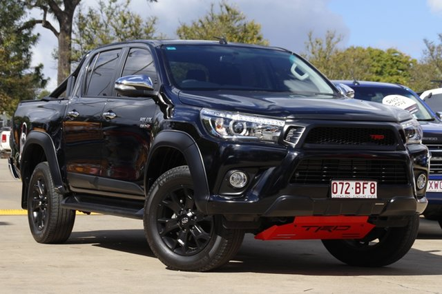 Used Toyota Hilux GUN126R SR5 Double Cab Toowoomba, 2017 Toyota Hilux GUN126R SR5 Double Cab Black 6 Speed Sports Automatic Utility