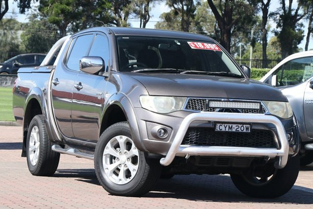 Pre-Owned Mitsubishi Triton MN MY11 GLX-R Double Cab Warwick Farm, 2010 Mitsubishi Triton MN MY11 GLX-R Double Cab Gunmetal 5 Speed Sports Automatic Utility