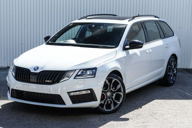 Used Skoda Octavia NE MY20 RS DSG 245 Seaford, 2019 Skoda Octavia NE MY20 RS DSG 245 White 7 Speed Sports Automatic Dual Clutch Wagon