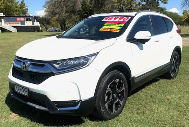 Used Honda CR-V RW MY18 VTi-LX 4WD Tamworth, 2017 Honda CR-V RW MY18 VTi-LX 4WD White 1 Speed Constant Variable Wagon