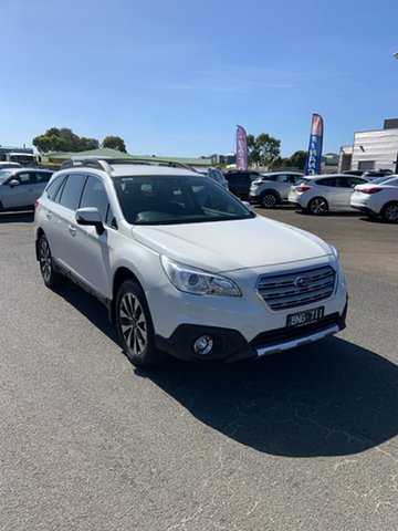 Used Subaru Outback B6A MY17 2.5i CVT AWD Warrnambool East, 2017 Subaru Outback B6A MY17 2.5i CVT AWD White 6 Speed Constant Variable Wagon