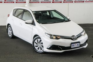 2015 Toyota Corolla ZRE182R MY15 Ascent Glacier White 7 Speed CVT Auto Sequential Hatchback.