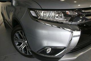 2017 Mitsubishi Outlander ZK MY17 LS (4x2) Blade Silver Continuous Variable Wagon.