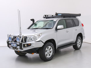 2013 Toyota Landcruiser Prado KDJ150R MY14 GXL (4x4) Silver, Chrome 5 Speed Sequential Auto Wagon.