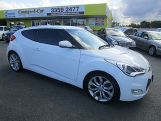 2014 Hyundai Veloster FS4 Series II Coupe D-CT White 6 Speed Sports Automatic Dual Clutch Hatchback.