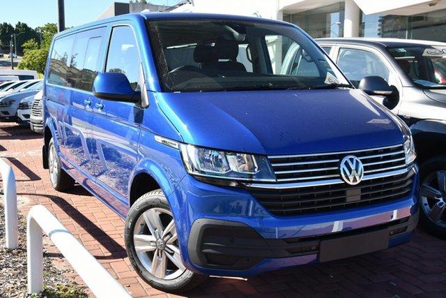 New Volkswagen Multivan T6.1 MY21 TDI340 LWB DSG Comfortline Premium Victoria Park, 2020 Volkswagen Multivan T6.1 MY21 TDI340 LWB DSG Comfortline Premium Ravenna Blue 7 Speed