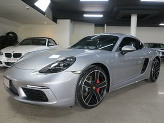 2017 Porsche 718 982 MY17 Cayman PDK S GT Silver 7 Speed Sports Automatic Dual Clutch Coupe.