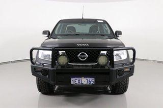 2013 Nissan Navara D40 MY12 ST (4x4) Black 6 Speed Manual Dual Cab Pick-up.