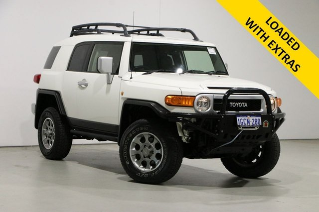 Used Toyota FJ Cruiser GSJ15R Bentley, 2012 Toyota FJ Cruiser GSJ15R White 5 Speed Automatic Wagon