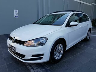 2014 Volkswagen Golf AU MY15 90 TSI White 7 Speed Auto Direct Shift Wagon.