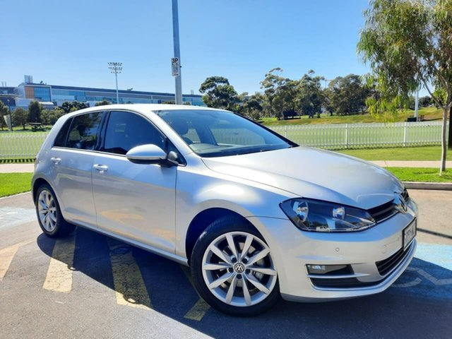 Used Volkswagen Golf VII MY14 103TSI DSG Highline Adelaide, 2014 Volkswagen Golf VII MY14 103TSI DSG Highline Silver 7 Speed Sports Automatic Dual Clutch