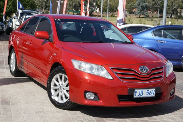 Used Toyota Camry ACV40R MY10 Ateva Phillip, 2009 Toyota Camry ACV40R MY10 Ateva Red 5 Speed Automatic Sedan