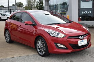 2014 Hyundai i30 GD2 SR Red/Black 6 Speed Manual Hatchback.