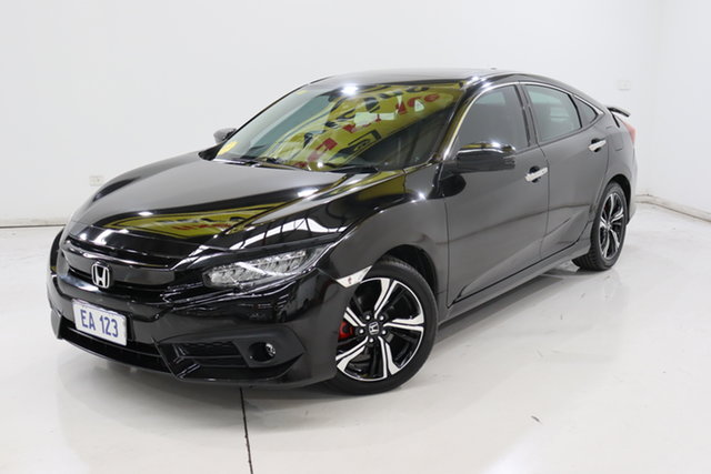 Used Honda Civic 10th Gen MY16 RS Brooklyn, 2017 Honda Civic 10th Gen MY16 RS Black 1 Speed Constant Variable Sedan