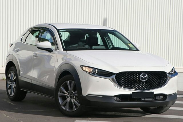 New Mazda CX-30 DM2WLA G25 SKYACTIV-Drive Touring Wollongong, 2021 Mazda CX-30 DM2WLA G25 SKYACTIV-Drive Touring Snowflake White Pearl 6 Speed Sports Automatic