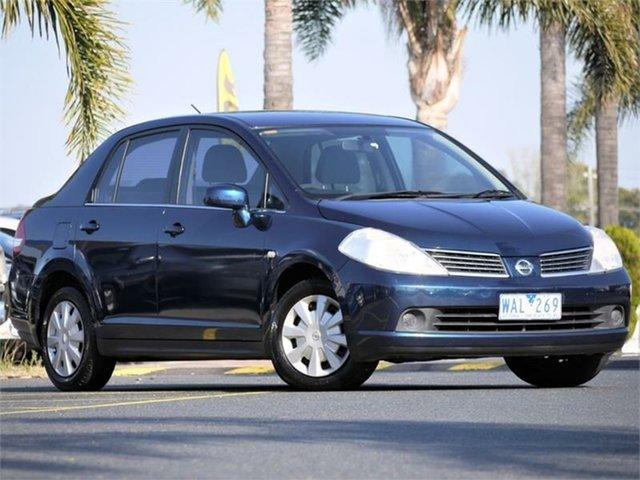 Used Nissan Tiida C11 ST Cheltenham, 2007 Nissan Tiida C11 ST Blue 4 Speed Automatic Sedan