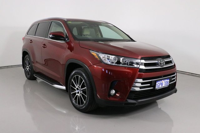 Used Toyota Kluger GSU55R MY17 Grande (4x4) Bentley, 2018 Toyota Kluger GSU55R MY17 Grande (4x4) Red 8 Speed Automatic Wagon