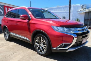 2015 Mitsubishi Outlander ZK MY16 LS (4x2) Red Continuous Variable Wagon.