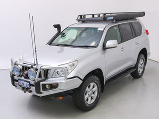 2013 Toyota Landcruiser Prado KDJ150R MY14 GXL (4x4) Silver, Chrome 5 Speed Sequential Auto Wagon