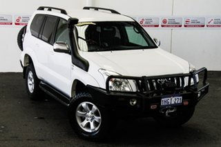 2007 Toyota Landcruiser Prado KDJ120R 07 Upgrade GXL (4x4) Powder White 6 Speed Manual Wagon.