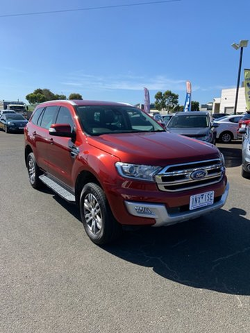Used Ford Everest UA Trend Warrnambool East, 2016 Ford Everest UA Trend Red 6 Speed Sports Automatic SUV