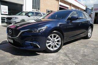 2016 Mazda 6 GJ1032 Touring SKYACTIV-Drive Blue 6 Speed Sports Automatic Wagon.