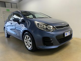 2015 Kia Rio UB MY16 S Blue 4 Speed Automatic Hatchback.