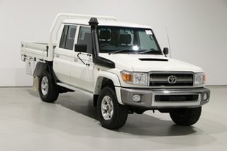 2016 Toyota Landcruiser VDJ79R MY12 Update GXL (4x4) White 5 Speed Manual Double Cab Chassis