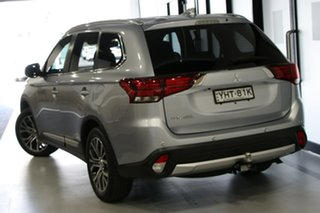 2017 Mitsubishi Outlander ZK MY17 LS (4x2) Blade Silver Continuous Variable Wagon.