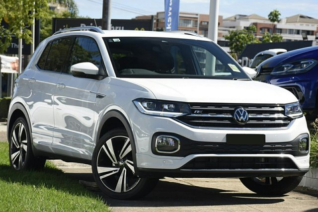 New Volkswagen T-Cross C1 MY21 85TSI DSG FWD Style Indooroopilly, 2020 Volkswagen T-Cross C1 MY21 85TSI DSG FWD Style Pure White 7 Speed Sports Automatic Dual Clutch