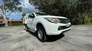 2017 Mitsubishi Triton MQ MY17 GLX Double Cab White 5 Speed Sports Automatic Cab Chassis
