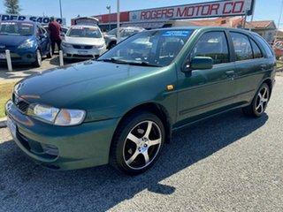 1998 Nissan Pulsar LX Green 4 Speed Automatic Hatchback.