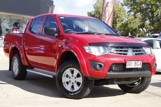 Used Mitsubishi Triton MN MY14 GLX Double Cab Toowoomba, 2013 Mitsubishi Triton MN MY14 GLX Double Cab Red 4 Speed Sports Automatic Utility