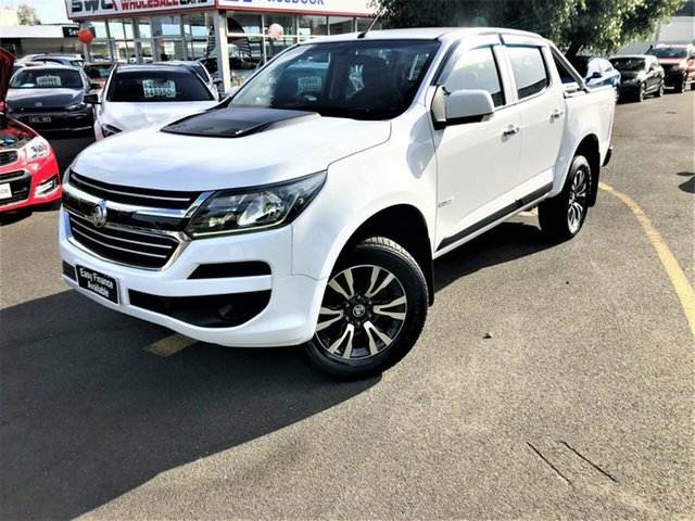 Used Holden Colorado RG MY16 LS Crew Cab 4x2 Seaford, 2016 Holden Colorado RG MY16 LS Crew Cab 4x2 White 6 Speed Sports Automatic Utility