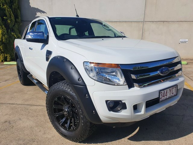 Used Ford Ranger PX MkII XLT Super Cab Toowoomba, 2015 Ford Ranger PX MkII XLT Super Cab White 6 Speed Manual Utility