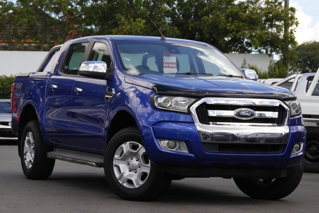 Used Ford Ranger PX XLT Double Cab Mount Gravatt, 2015 Ford Ranger PX XLT Double Cab Blue 6 Speed Sports Automatic Utility