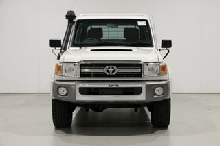 2016 Toyota Landcruiser VDJ79R MY12 Update GXL (4x4) White 5 Speed Manual Double Cab Chassis.