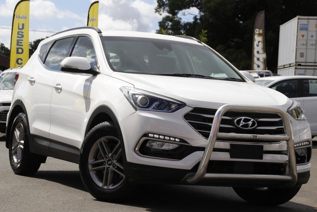 Used Hyundai Santa Fe DM5 MY18 Active Toowoomba, 2018 Hyundai Santa Fe DM5 MY18 Active White 6 Speed Sports Automatic Wagon