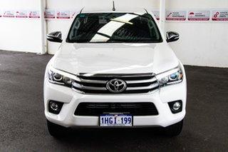 2015 Toyota Hilux GUN126R SR5 (4x4) Glacier White 6 Speed Automatic Dual Cab Utility.