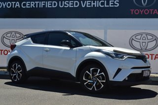 2019 Toyota C-HR NGX10R Koba S-CVT 2WD Crystal Pearl & Black Roof 7 Speed Constant Variable Wagon.