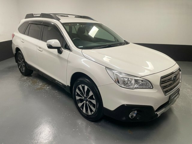 Used Subaru Outback B6A MY15 2.5i CVT AWD Hamilton, 2015 Subaru Outback B6A MY15 2.5i CVT AWD White 6 Speed Constant Variable Wagon