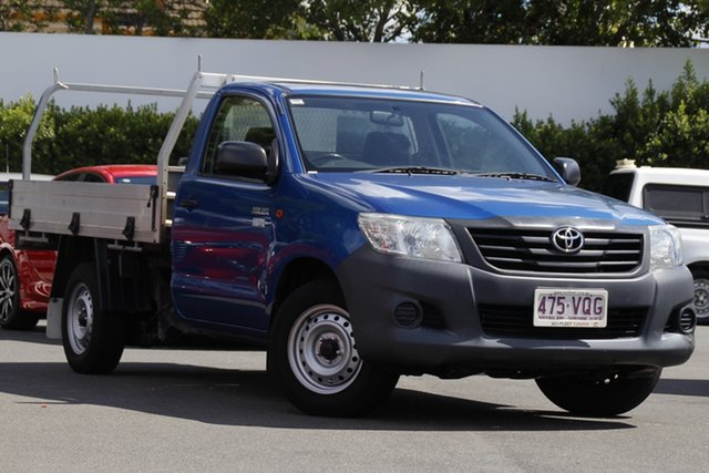 Used Toyota Hilux TGN121R Workmate 4x2 Mount Gravatt, 2015 Toyota Hilux TGN121R Workmate 4x2 Blue 5 Speed Manual Cab Chassis