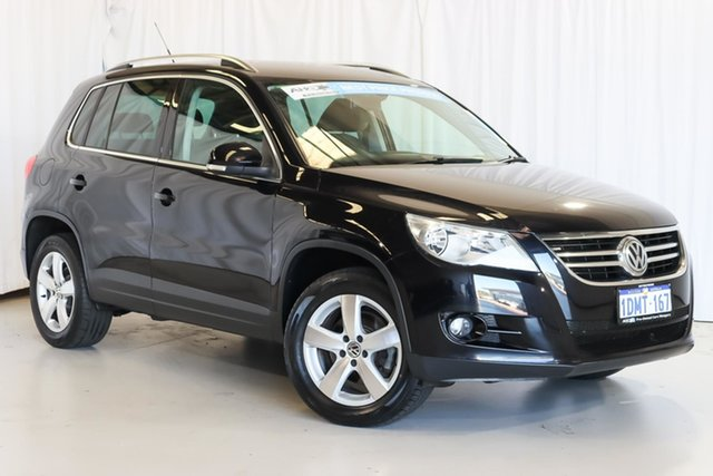 Used Volkswagen Tiguan 5N MY10 147TSI 4MOTION Wangara, 2010 Volkswagen Tiguan 5N MY10 147TSI 4MOTION Black 6 Speed Sports Automatic Wagon