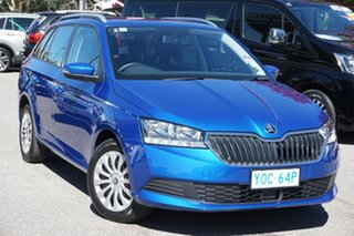 2020 Skoda Fabia NJ MY20.5 81TSI DSG Blue 7 Speed Sports Automatic Dual Clutch Wagon.