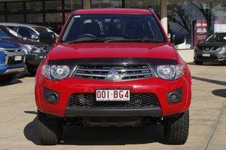 2013 Mitsubishi Triton MN MY14 GLX Double Cab Red 4 Speed Sports Automatic Utility.