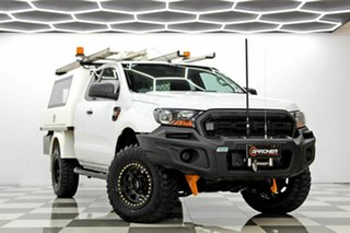 2015 Ford Ranger PX MkII XL 3.2 (4x4) White 6 Speed Manual Super Cab Chassis.
