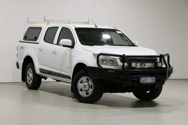 Used Holden Colorado RG LX (4x4) Bentley, 2013 Holden Colorado RG LX (4x4) White 6 Speed Automatic Crew Cab Pickup