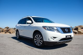 2013 Nissan Pathfinder R52 MY14 ST X-tronic 2WD White 1 Speed Constant Variable Wagon.