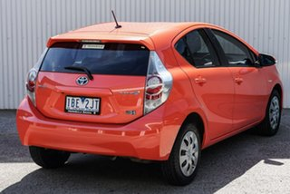 2012 Toyota Prius c NHP10R E-CVT Orange 1 Speed Constant Variable Hatchback Hybrid.